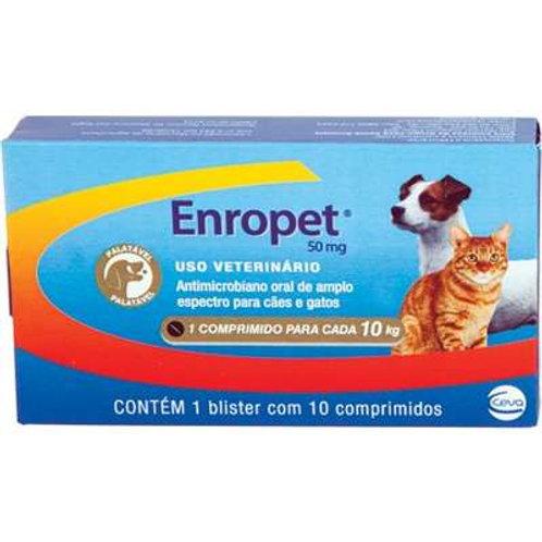 Antimicrobiano Enropet  50mg - Ceva