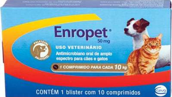 Antimicrobiano Enropet  50mg - Ceva