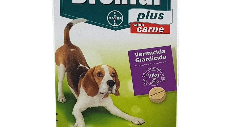 Vermífugo Cães Drontal Plus sabor Carne 10kg 4 comprimidos - Bayer