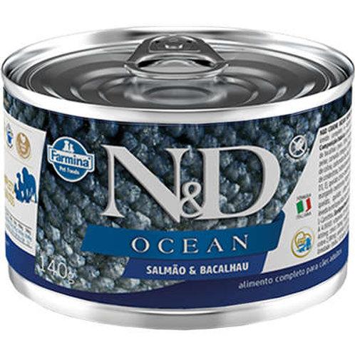 Alimento Úmido Cães ND Ocean Salmão e Bacalhau 140gr