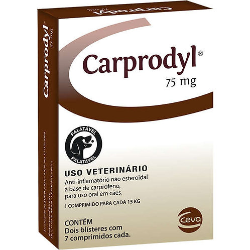 Anti-inflamatório Carprodyl  75mg com 14 comprimidos - Ceva