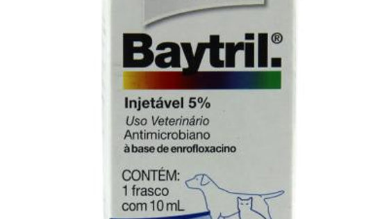 Antimicrobiano Baytril 5% Injetável 10ml Cães e Gatos - Bayer