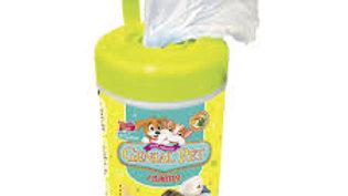 Lenço Umedecido para cães e gatos Filhotes 75 un Genial Pet