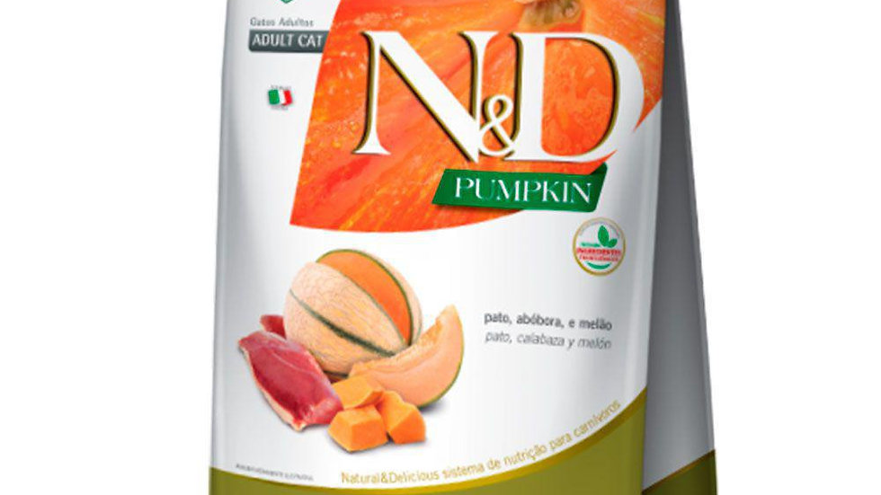 Ração ND Pumpkin Gatos Adulto sabor Pato 400gr - ND
