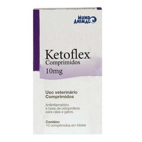 Anti-inflamatório Cães e Gatos Ketoflex 10mg Comprimidos - Mundo Animal