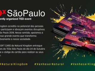 Parceria entre Natural Kingdom e TEDx São Paulo