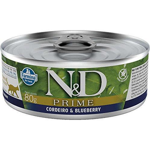 Alimento Úmido Gatos ND Prime sabor Cordeiro 80gr
