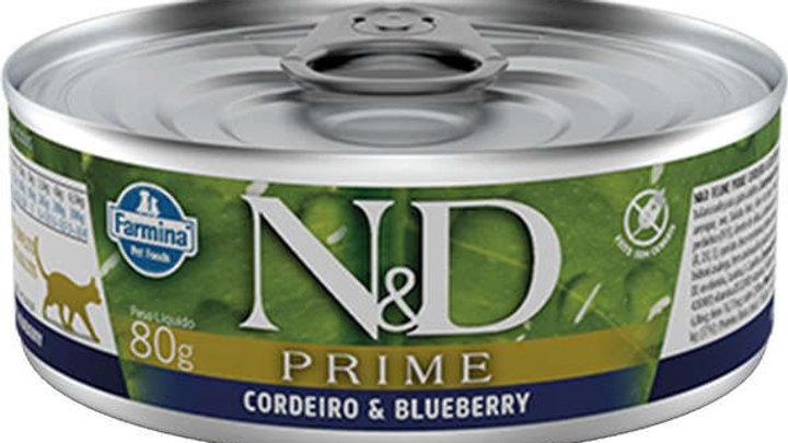 Alimento Úmido Gatos Prime sabor Cordeiro 80gr - ND