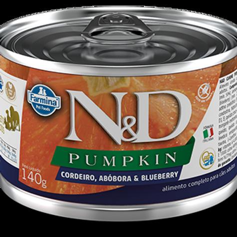 Alimento Úmido Cães ND Pumpkin Cordeiro140gr