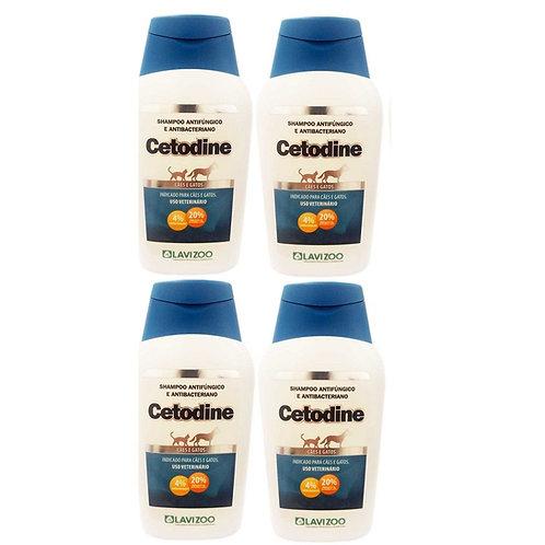 Cetodine Shampoo 500 ml Combo com 04 Unidades - Lavizoo