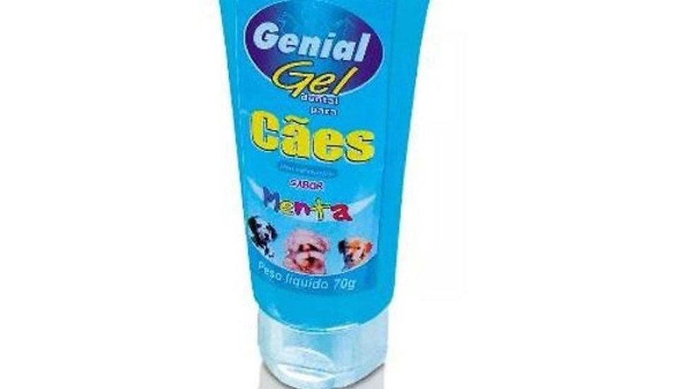 Gel Dental Menta 70gr Cães - Genial Pet