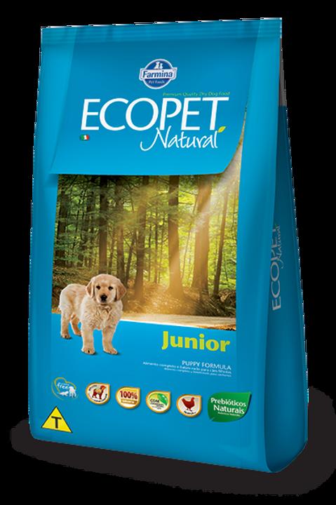 Ração Ecopet Filhote Natural Junior Cães 3kg