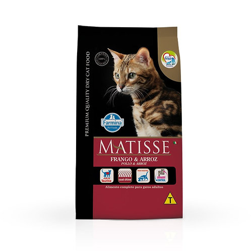 Ração Matisse Gatos Adultos sabor Frango e Arroz 7,5kg