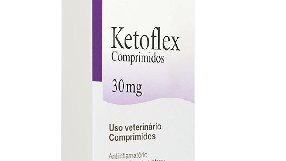 Anti-inflamatório Cães e Gatos Ketoflex 30mg 10 comprimidos - Mundo Animal