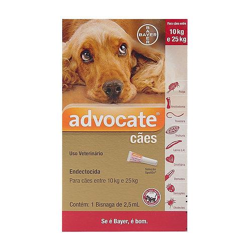 Antipulgas Advocate para Cães entre 10 e 25kg 2,5ml - Bayer
