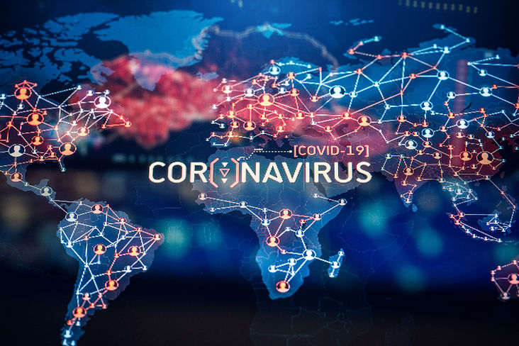 PHOTO - Coronavirus on world map copy.jp