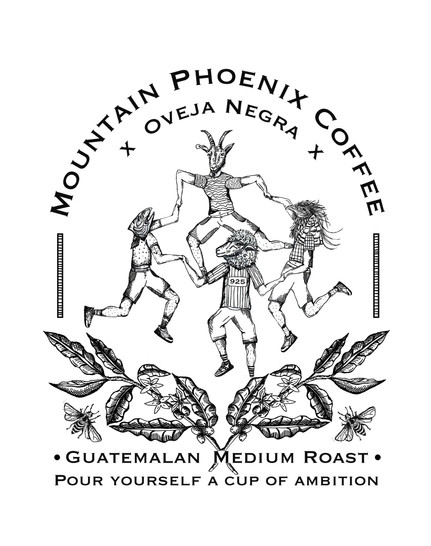 Mountain Phoenix Coffee Label in collaboration with Oveja Negra