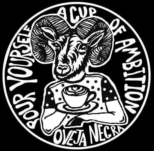 Sticker and patch design for Oveja Negra