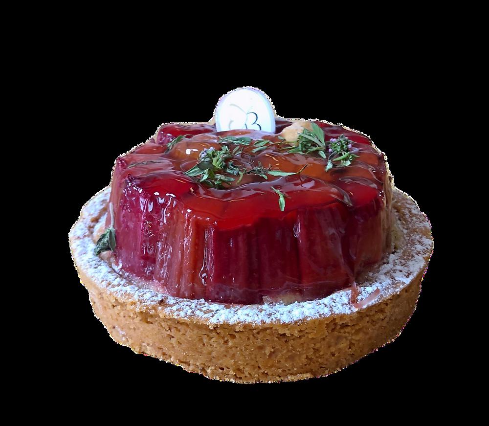 La Tarte Rosa à la Rhubarbe de Bontemps
