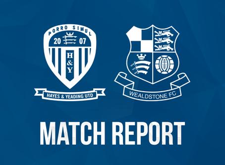 Report - Hayes & Yeading United 2 - 5 Wealdstone