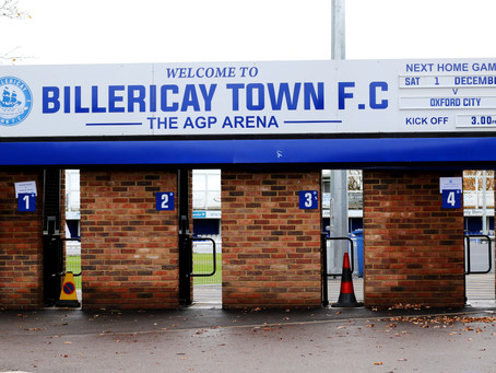 Preview - Billericay Town (A) - Tuesday 7th January
