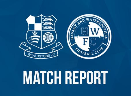 Report - Wealdstone 3 - 1 Havant & Waterlooville