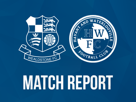 Report - Wealdstone 3 - 1 Havant & Waterlooville