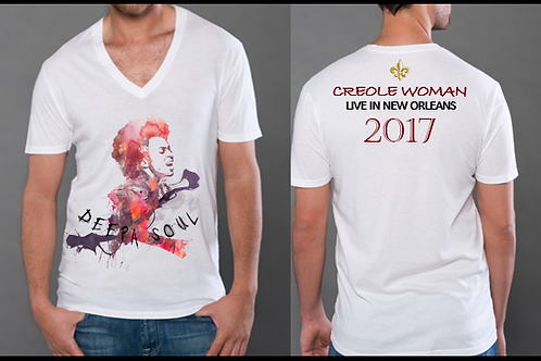 V-Neck Deepa Soul 'Creole Woman' T-Shirt(m)