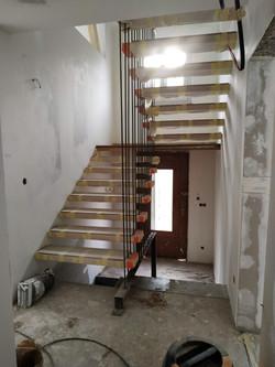 Mise en place des marches d'escalier