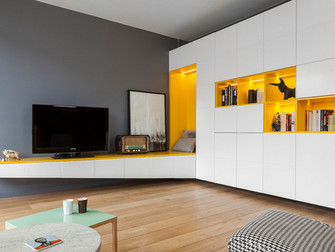 Un 70 m² ludique pour un père et son petit garçon