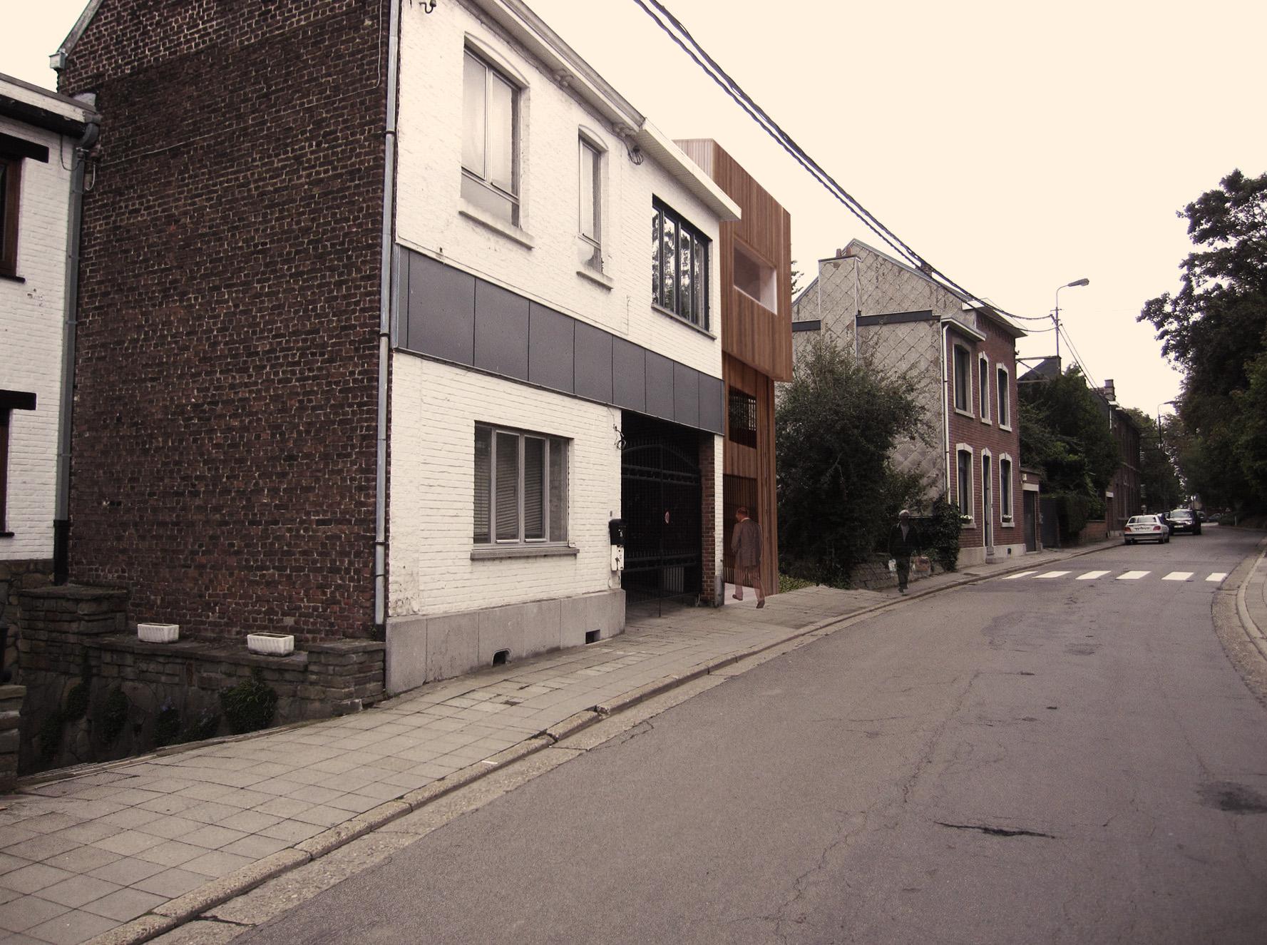 Vue coté rue