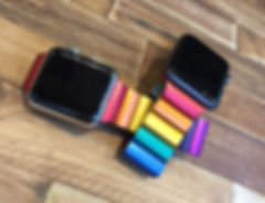 JUUK 38mm and 42mm Rainbow Ligero Premium Aluminum Apple Watch Bands