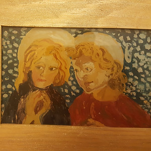 Icons on wood & glass