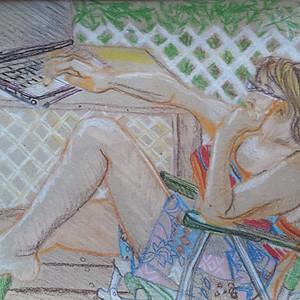 Plain-air painting VAL-DAVID