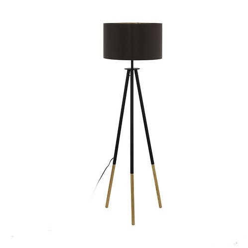 Bidford timber tripod floorlamp
