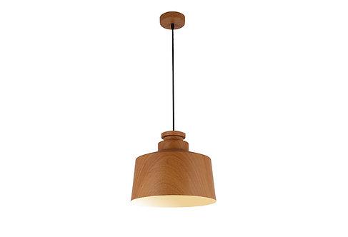 Medium Hamil timber look metal pendant