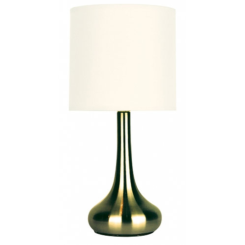 Lola Antique Brass Touch Lamp