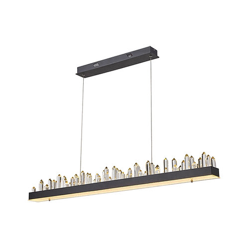 LED Sparkle 55w Crystal Pendant Light