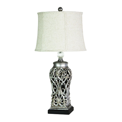 Dorne silver table lamp