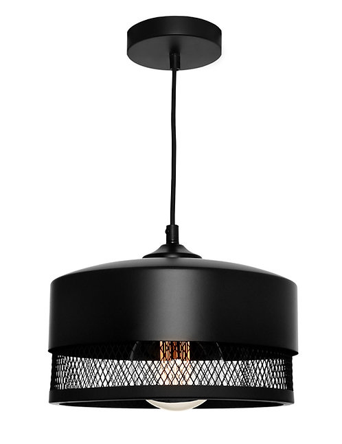 Galahad black mesh 1lt medium pendant