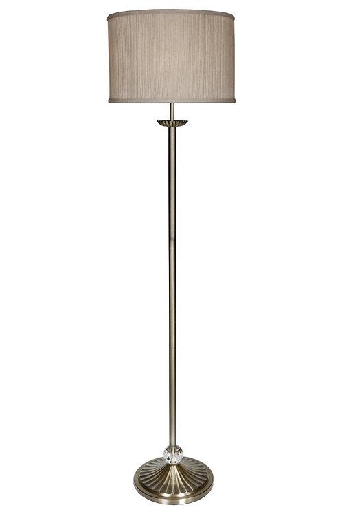 Mia Antique brass Floor Lamp
