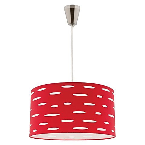 Darcy red fabric shade