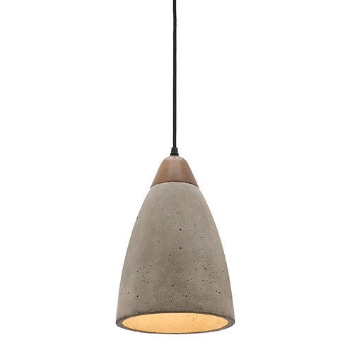 Danska concrete and timber pendant