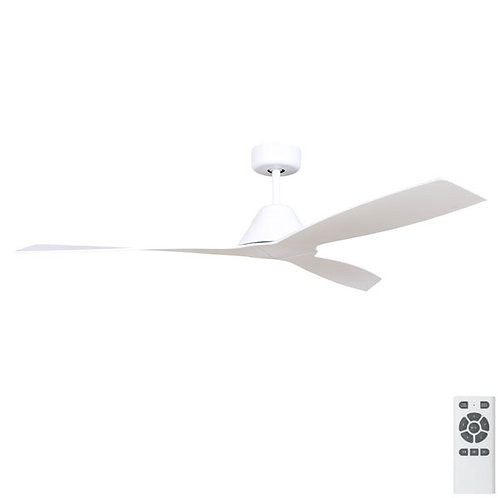 "Fanco Eco Breeze DC 52"" (1320mm) Ceiling Fan - White with white blades"