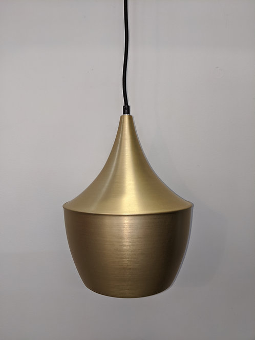 Morris satin brass metal pendant