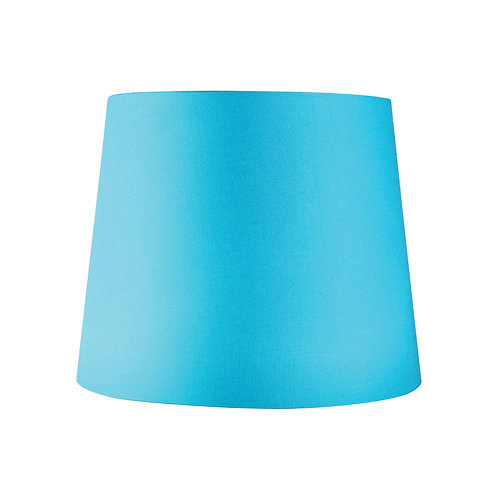 Teal blue cotton 27cm tapered drum shade