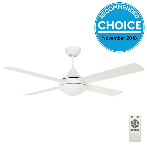 "Fanco Eco Silent DC 52"" (1320mm) Ceiling Fan with LED - White"