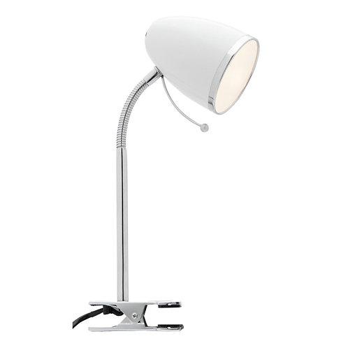 Sara Clamp Lamp - White
