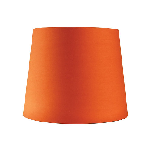 Bofire orange cotton 27cm tapered drum shades