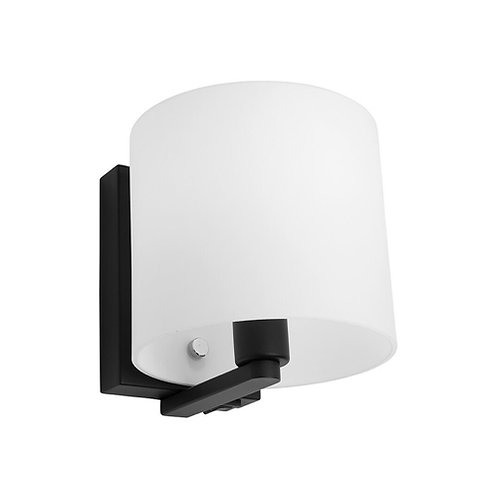 Tida black wall light with switch